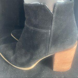 Nine West Shoes - Nine West Kirbyo Black Suede HeelBooties (8) 2/$40